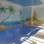 Swimming-pool of house for rent at Lunocharskiy district in Tashkent