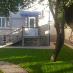 Garden of house for rent at Lunocharskiy district in Tashkent