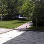 Garden of house for rent at Aviahima street in Tashkent