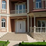 Facade of house for rent at Bodomzor district in Tashkent