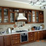 Kitchen of house for rent at Bodomzor district in Tashkent