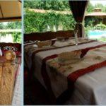 Summer terrace with Uzbek tapchan